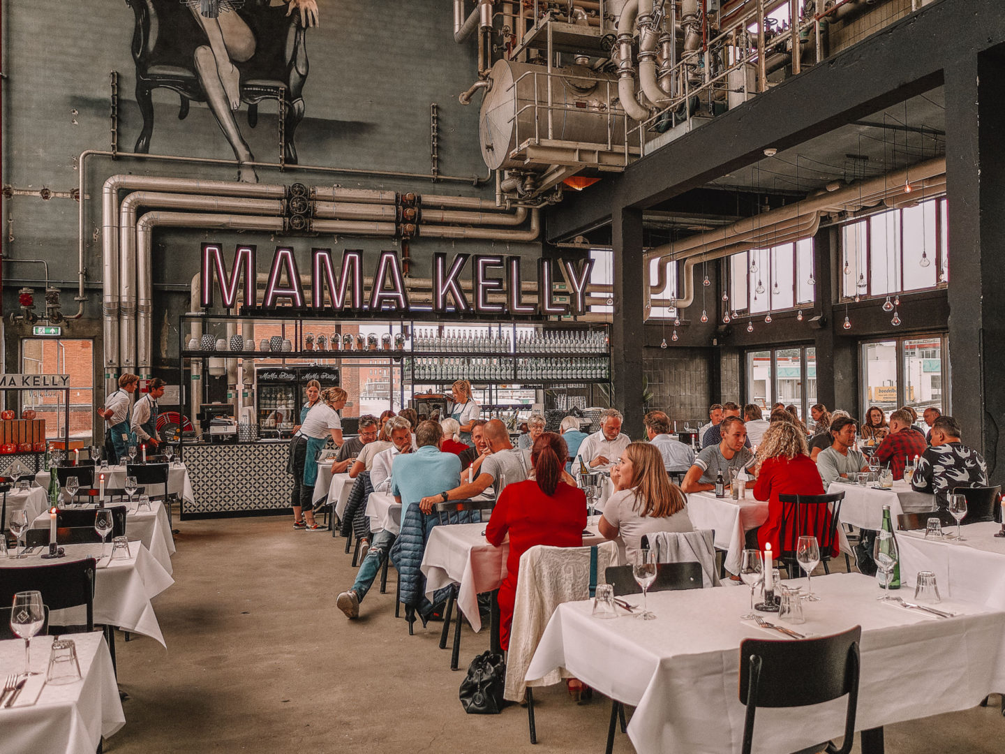 Dining at Mama Kelly The Hague